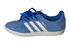 Adidas Samba Classic Men's Sneakers White/Baby Blue SZ 7.5 Pre-Owned