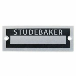 Studebaker Custom ID Data plate Serial Number Tag 289 R-3 V8 Regal Lark Skybolt