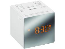 Radio Despertador con pantalla LED Sony Blanco, alarma gradual, fecha, AM/FM