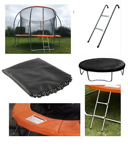Trampoline spare parts replacement springs padding ladder jump mat rain cover