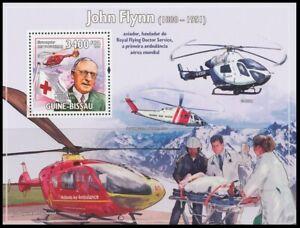 Guinea Bissau 2009 MNH 5v, John Flynn, Red Cross, 1st Air Ambulance, Stretcher