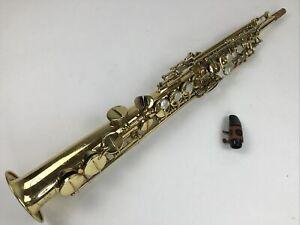 Used Vito Bb Soprano Saxophone LOT A0610212