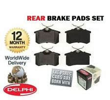 FOR PEUGEOT 307 2.0 Hdi FAP Diesel 2006- ON NEW REAR DELPHI BRAKE DISC PADS SET