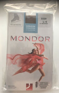Mondor 3338 over boot Ice skate stocking/tight,Adult Large, colour 87 brown NWT