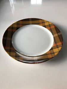Williams Sonoma Christmas Holiday Fall 2017 Autumn Plaid Dinner Plate