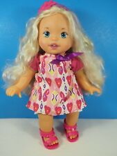 "Mattel 13"" Little Mommy Doll Sweet As Me, Blond Hair, Blue Eyes"