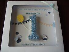 Handmade Personalised 1st Birthday Card