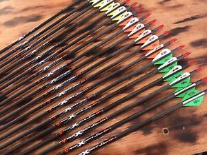 PSE Radial X Weave STLHunter DOZEN carbon Arrows / SHAFTS 300, 200 or 100 Spine