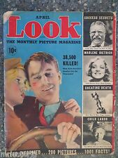 1937 April Look Magazine Vol 1 No 4  VINTAGE ADS Marlene Dietrich Pin-Up
