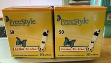 100 Freestyle Diabetic Test Strips Factory Sealed  Exp 07/2022 FREE SHIP SAVE $$