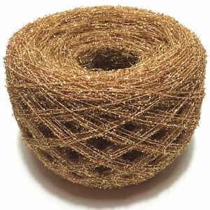 Gold Glitter Crochet Thread Tinsel Yarn - 50g - Add SPARKLE to your Knitting!