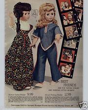 1973 PAPER AD Curlee Walker Wispy Talking Doll Dolls Shirley Temple Mrs Beasley