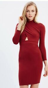 Red Party Dress Size 6 Casper & Pearl $189.95 Authentic