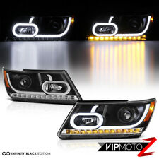 """FiBeR OpTiC TuBe"" 2009-2017 Dodge Journey OLED Signal DRL Projector Headlights"