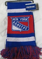 "NWT NHL 2012 TEAM STRIPE ACRYLIC SCARF 64""x7"" - NEW YORK RANGERS"