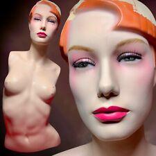 Vintage Mannequin Female Torso Distressed Bust Oddity Art Creepy 80s