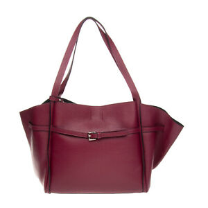 RRP €195 LAURA DI MAGGIO Leather Tote Bag Large Grainy Panel Made in Italy