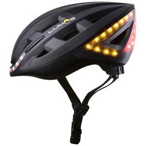 Lumos Kickstart Helmet: LED Lights|TurnSignals|BrakeLights|Bluetooth Large Black