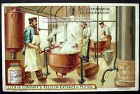 Sugar Refining In Large Copper Pots c1900 Trade Ad Card