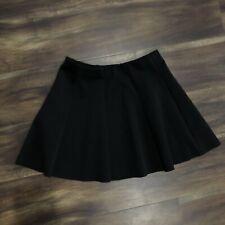 XS - AEROPOSTALE Black Raw Hem Skater Skirt