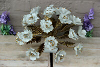Vintage italian capodimonte marked Porcelain centerpiece flower bouguet rare