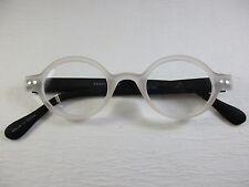 ROUND SOFT MATTE Rubber Flexible TRANSLUCENT & BLACK Reading Glasses  +1.50