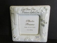 2001 Roman Inc. God Bless Porcelain Photo Frame-New In The Box