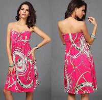 Womens Hot Mini Boob Tube Top Dress Tube-dress Size 10 12 14 16 Summer Club Wear