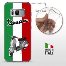Samsung Galaxy S8 TPU CASE COVER PROTETTIVA TRASPARENTE VINTAGE Vespa Italiana