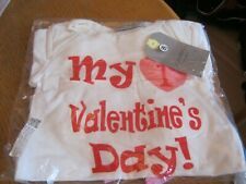 My First Valentine's Baby Girl, Romper/Pants/Hat/Headband Outfit size 3-6M