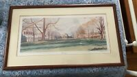 Vintage, Rare! 1993 University Of Virginia The Lawn Print by Russell Bloodworth