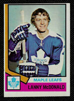 1974-75 TOPPS ROOKIE #168 TORONTO MAPLE LEAFS LANNY MCDONALD EXCELLENT.