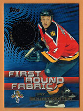 2003-04 , TOPPS , JAY BOUWMEESTER , FIRST ROUND FABRIC , JERSEY