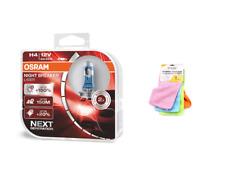 OSRAM H4 12 V Night Breaker Laser +150% mehr Helligkeit +  Mikrofasertücher