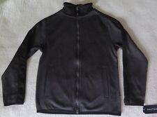 Nautica Boys' Full-Zip Fleece Marble Black Jacket - SMALL (8) - NWT