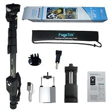 "3- Pack Open Box Fugetek Selfie Stick, 49"",Bluetooth Remote,iPhone,GoPro,Android"