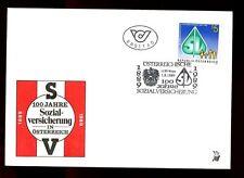 Austria 1989 National Insurance Centenary FDC #C3003
