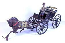 """Antique Pratt & Letchworth  1880 Cast Iron Double Surrey 15"""" Top Hat Driver"""