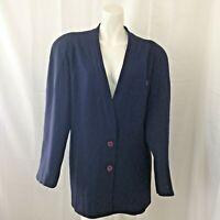 Vintage Christian Dior Separates Womens 100% Wool Purple Blazer Size 10