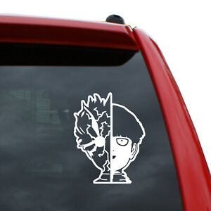 Mob Psycho 100 Vinyl Decal Sticker | Color White | 5 inch Tall