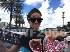 WWE BAYLEY HAND SIGNED DIVAS CHAMPIONSHIP REPLICA BELT WITH PIC PROOF COA