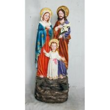 "Holy Family Bird Feeder Bath Catholic Saints Resin 22.5"" Jesus Mary Joseph"