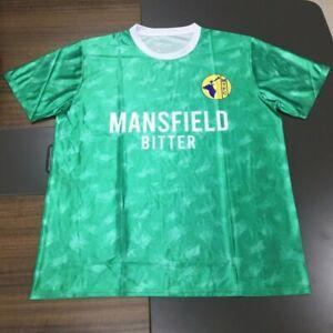Mansfield Town 1990 away shirt, sizes s/m/l/xl/2xl/3xl/4xl, modern reproduction