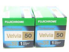 2 x FUJICHROME VELVIA 50 35mm 36 EXP CHEAP SLIDE FILM by 1st CLASS ROYAL MAIL