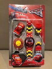 LEGO compatible - Cars Horloge inclusief Lightning McQueen Mini Figuur NIEUW !!