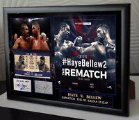 "Tony Bellew v David Haye Rematch Canvas Print Signed ""Great Souvenir"""