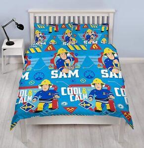 Fireman Sam Double Duvet Cover and Pillowcase Set - Cool Kids TV Children