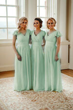 Evening Formal Long Ball Gowns Party Cocktail Prom Bridesmaid Dress Size 6-24+
