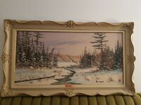 Oil Painting Cole Bowman Vintage Authentic Framed Signed Canadian Original rare