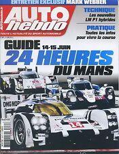 AUTO HEBDO n°1961 21/05/2014 GUIDE 24h du MANS